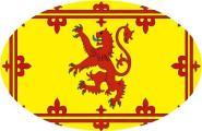 Aufkleber oval Schottland Royal 10 x 6,5 cm