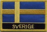 Aufnäher Schweden mit Schrift