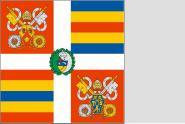 Fahne Standarte der Schweizer Garde für Vatikan mit Wappen des Papstes Benedict der XVI. 150 x 150 cm