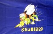Fahne Seabees 90 x 150 cm
