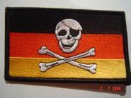 Aufnäher Pirat Skull + Bones Deutschland