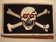 Aufnäher Pirat Skull red Eyes