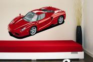 Wandtattoo Roter Sportwagen
