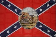 Fahne Südstaaten Ghostrider 90 x 150 cm