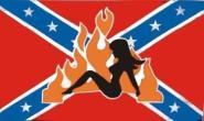 Fahne Südstaaten Lady 90 x 150 cm