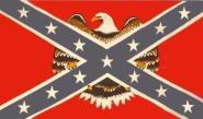 Fahne Südstaaten mit großem Adler