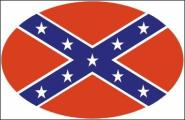 Aufkleber oval Südstaaten 10 x 6,5 cm