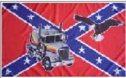 Fahne Südstaaten Truck mit Adler 90 x 150 cm