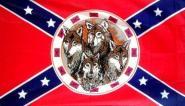 Fahne Südstaaten mit Wölfe 90 x 150 cm