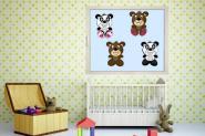 Fenstertattoo Teddybären