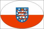Aufkleber oval Thüringen 10 x 6,5 cm