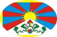Aufkleber oval Tibet 10 x 6,5 cm
