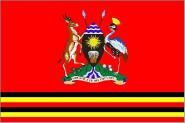 Flagge Uganda Präsident