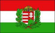 Fahne Ungarn mit Wappen 90 x 150 cm
