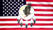 Fahne USA Traumfänger mit Adler 90 x 150 cm