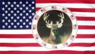 Fahne USA mit Hirsch 90 x 150 cm