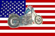 Fahne USA Motorrad 90 x 150 cm