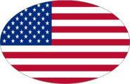 Aufkleber oval USA 10 x 6,5 cm