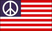 Fahne USA Peace Zeichen 90 x 150 cm