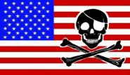Fahne USA Skull Bones 90 x 150 cm