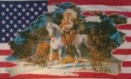 Fahne USA Indianer mit Pferd II 90 x 150 cm