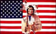 Fahne USA mit Indianer 90 x 150 cm
