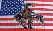 Fahne USA Indianer mit Pferd I  90 x 150 cm