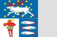 Flagge Vaesterbotten 120 x 120 cm