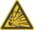 Warnschild - Warnung vor explosionsgefährlichen Stoffen F. 10 cm