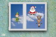Fenstertattoo Weihnachts Figuren Set