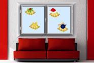 Fenstertattoo Weihnachtsglocken Set