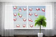 Fenstertattoo Weihnachtsmänner 20er Set