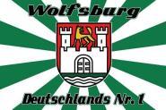 Fahne Wolfsburg Deutschlands Nr. 1 90 x 150 cm