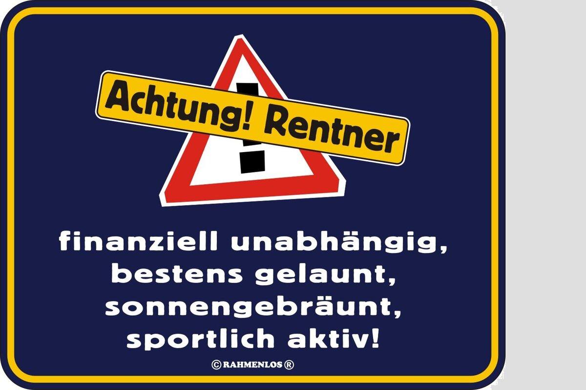 Funschild Achtung Rentner 17 X 22 Cm