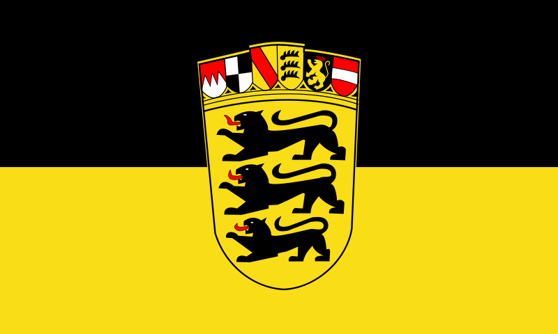 flagge badenw252rttemberg mit wappen