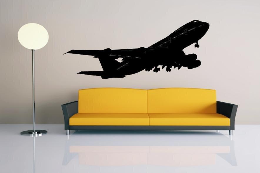 Tapeten Auf Metall Kleben : Wandtattoo Boeing 747