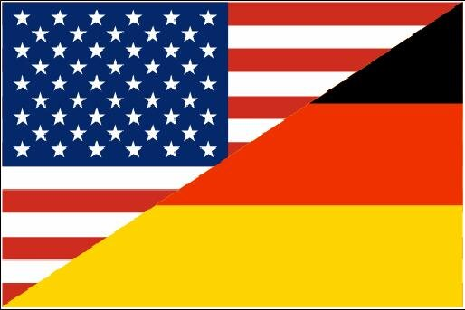 fahne deutschland usa freundschaftsflagge 90 x 150 cm. Black Bedroom Furniture Sets. Home Design Ideas