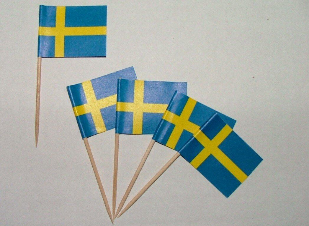 flaggen zahnstocher schweden ve 50. Black Bedroom Furniture Sets. Home Design Ideas