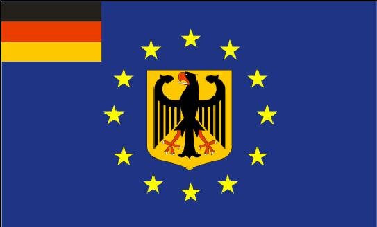 fahne europa mit deutschland adler 90 x 150 cm. Black Bedroom Furniture Sets. Home Design Ideas