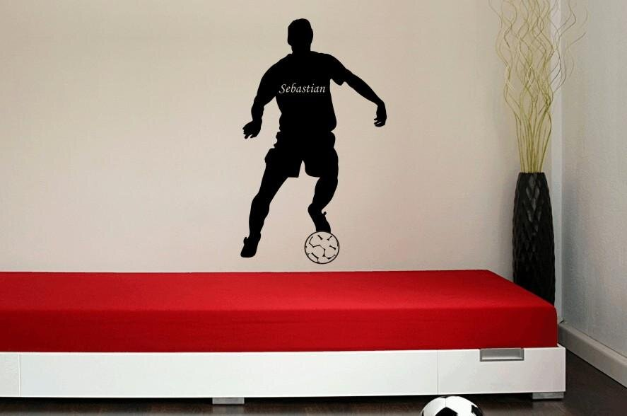 wandtattoo fussballspieler mit wunschnamen motiv nr 1. Black Bedroom Furniture Sets. Home Design Ideas