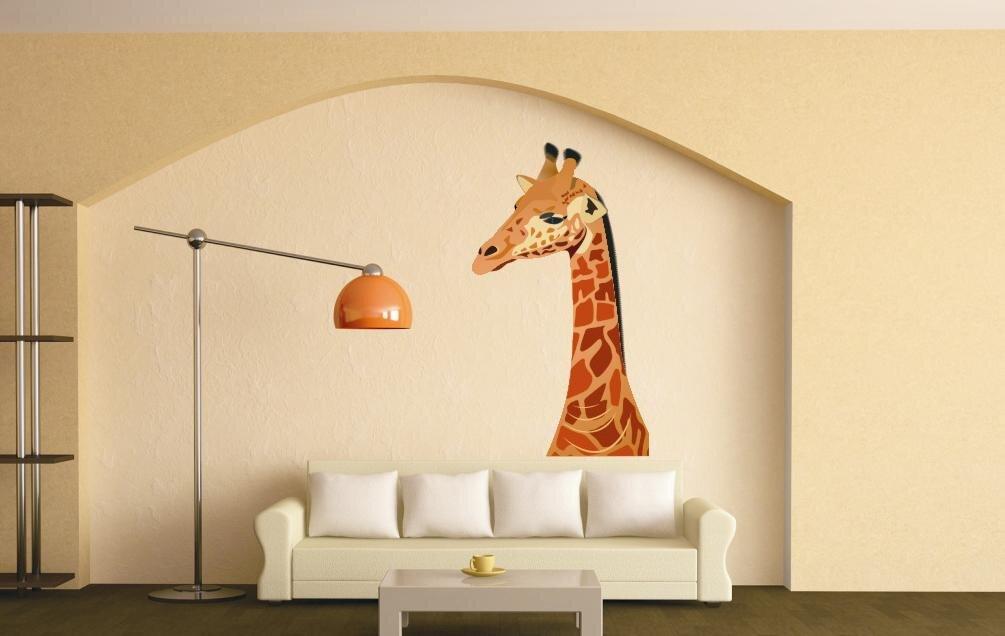 wandtattoo giraffe color motiv nr 2. Black Bedroom Furniture Sets. Home Design Ideas