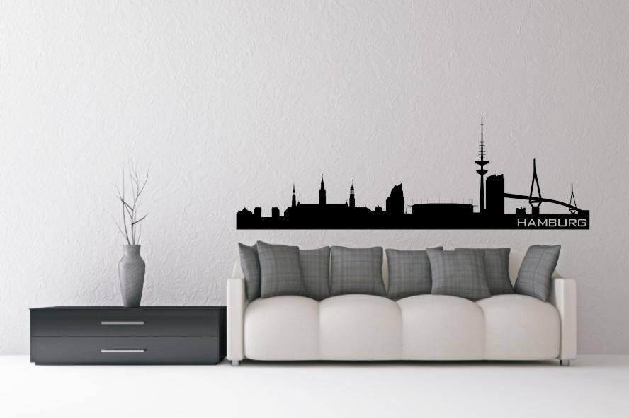 wandtattoo hamburg skyline. Black Bedroom Furniture Sets. Home Design Ideas