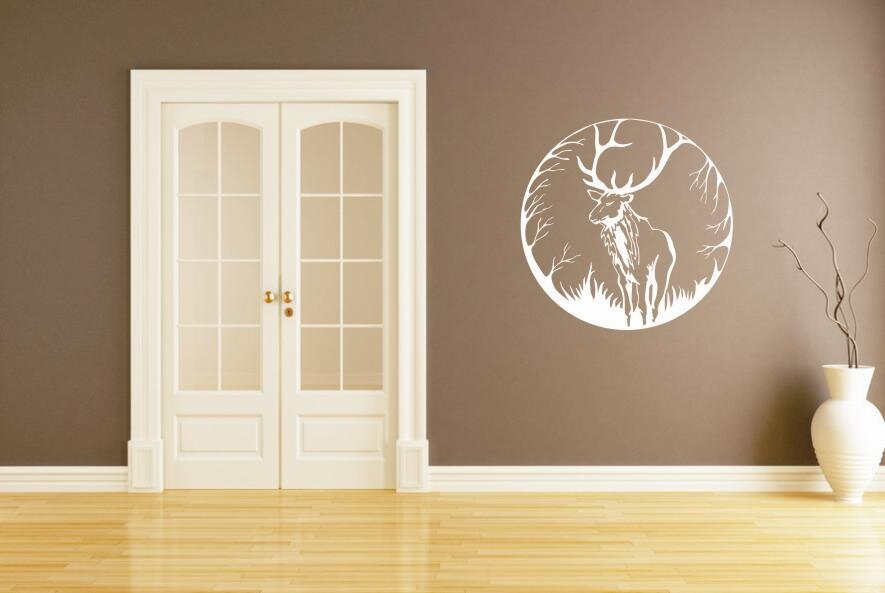 wandtattoo hirsch ornament. Black Bedroom Furniture Sets. Home Design Ideas