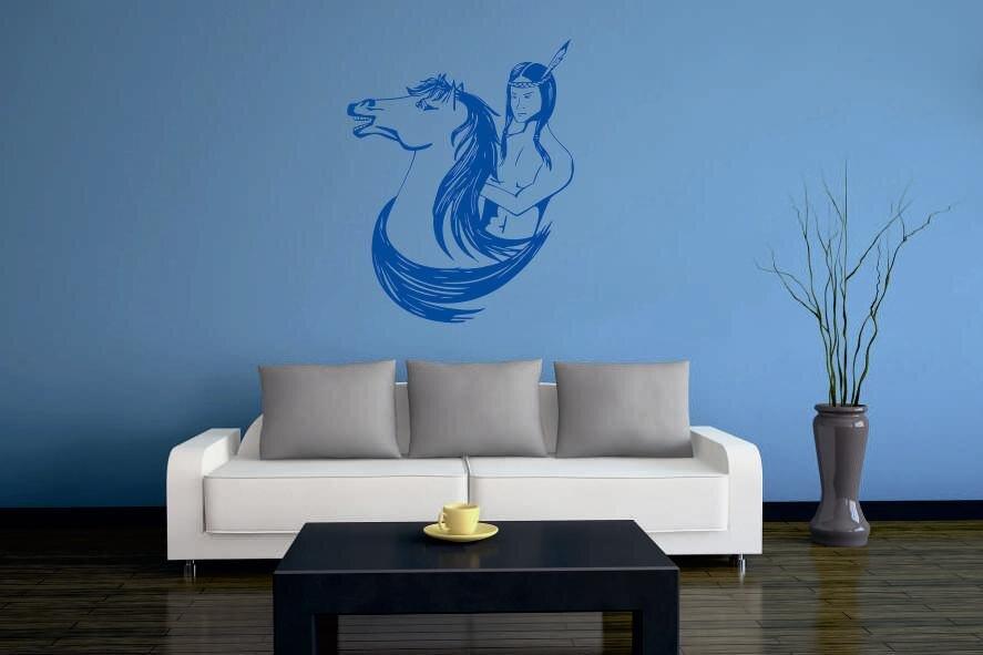 wandtattoo indianischer reiter. Black Bedroom Furniture Sets. Home Design Ideas
