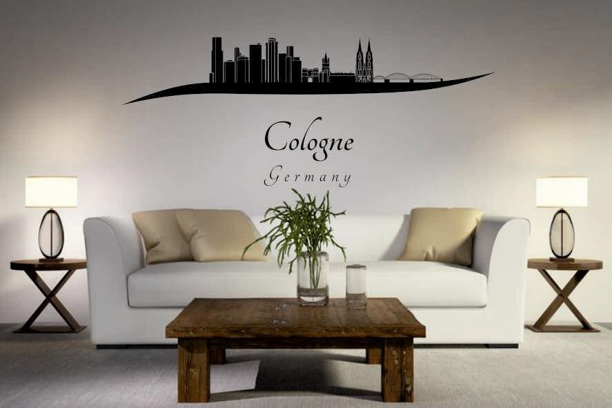 wandtattoo k ln skyline geschwungen. Black Bedroom Furniture Sets. Home Design Ideas