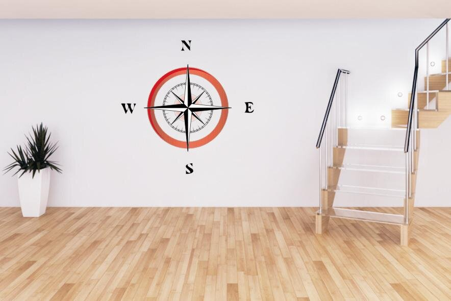 Wandtattoo kompass s - Wandtattoo kompass ...