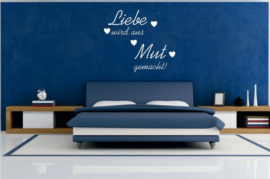 wandtattoo liebe wird aus mut gemacht schwarz s. Black Bedroom Furniture Sets. Home Design Ideas