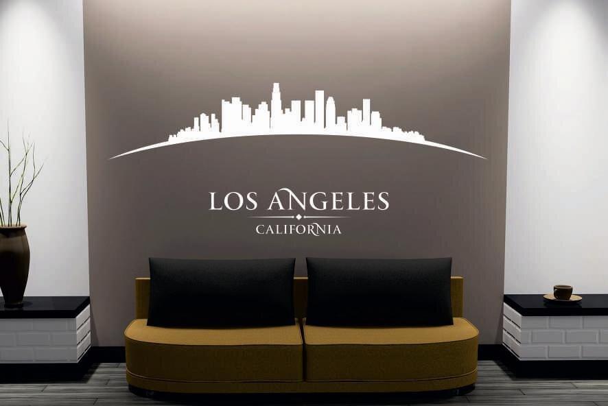 Tapeten Auf Metall Kleben : Wandtattoo Los Angeles Skyline gebogen
