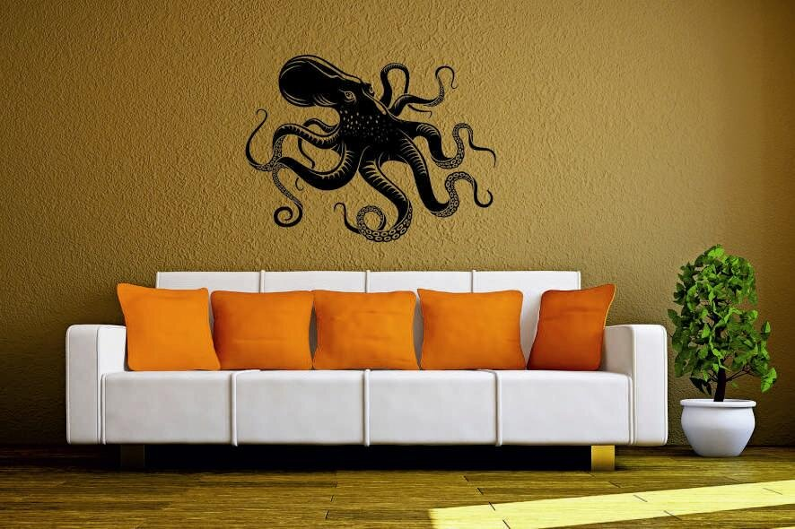 wandtattoo octopus krake motiv nr 3. Black Bedroom Furniture Sets. Home Design Ideas