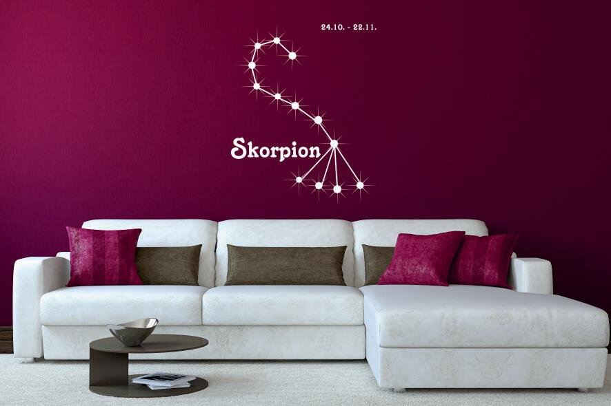 wandtattoo sternbild skorpion. Black Bedroom Furniture Sets. Home Design Ideas